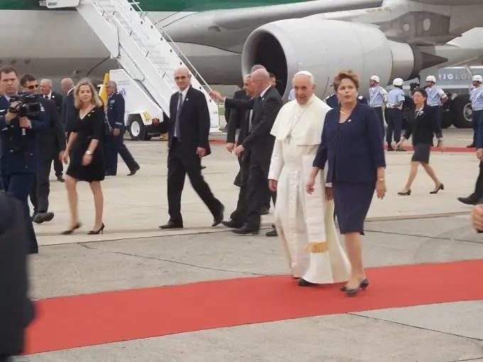Inauguración papal del carril bici que conecta con el cielo