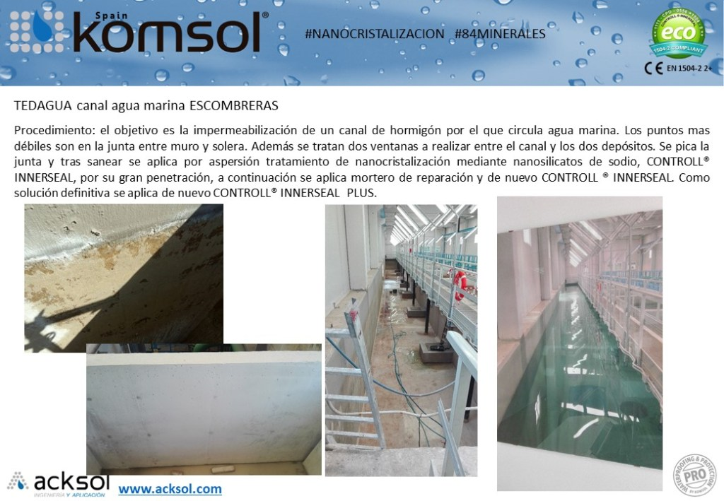 Tratamiento de protección y consolidación del hormigón en Escombreras