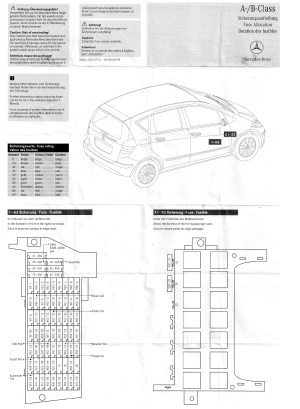 Mercedes Benz A160 Fuse Box  Wiring Diagram
