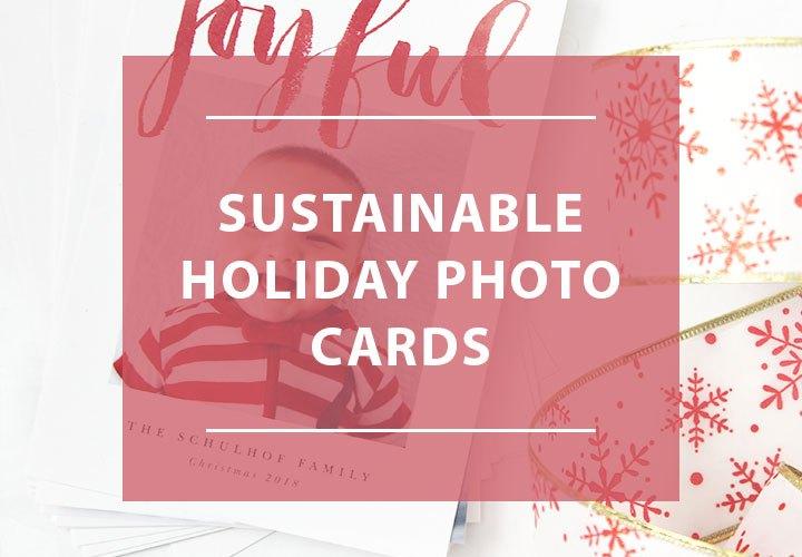 Sustainable Holiday Photo Cards