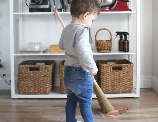 Kids cleaning set inspired by Montessori learning