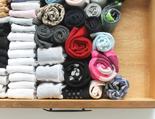 how to organize a sock drawer and how to fold socks