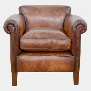 Brown Camford Leather tub chair