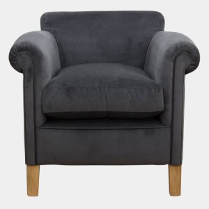 Dark Grey Velvet Camford tub chair