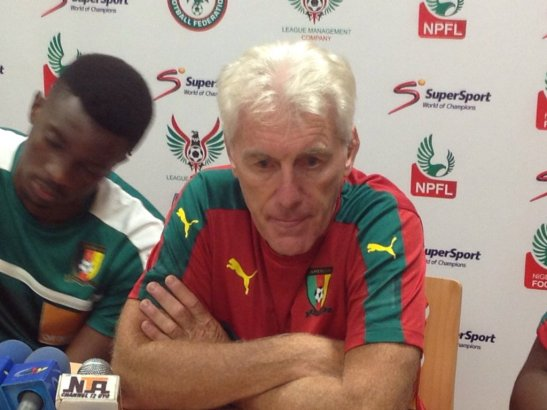 Broos banks on Confederations Cup experience, admits to pressure