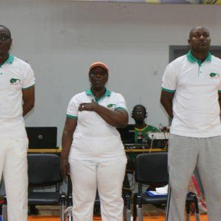 Team Cote d'Ivoire bench