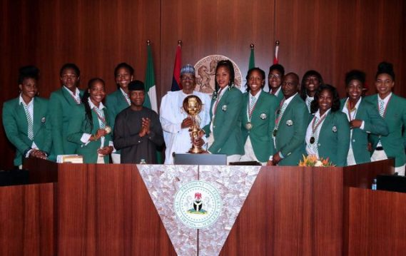 President Buhari redeems pledge of N17.5m to victorious D'Tigress