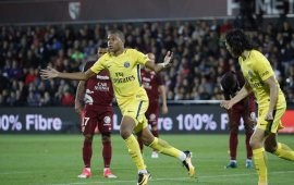 Mbappe scores on his debut, as PSG thrash 10 man Metz