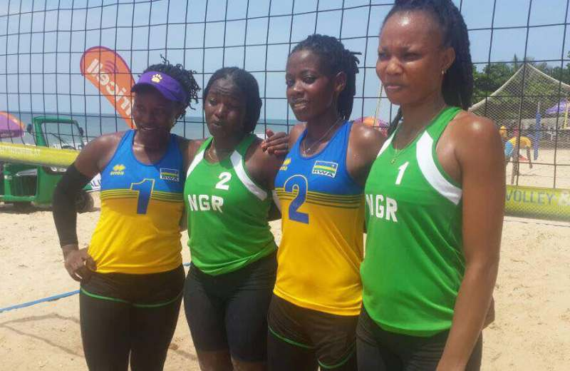 Beach Volleyball: Nigeria female team qualifies for Semifinals
