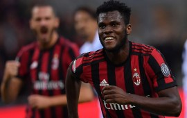 Serie A: Ivorian Franck Kessie hits double for AC Milan
