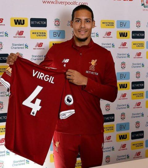 """Premier League: Liverpool unveil Van Dijk who """"can't wait to get started"""""""