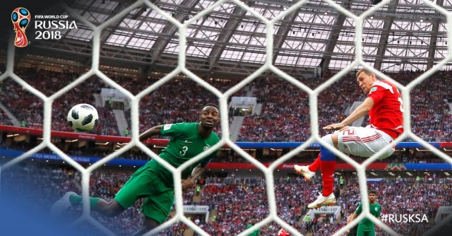 Russia 2018: Hosts Russia annihilate Saudis in opener