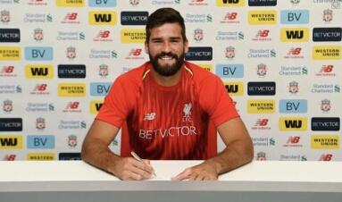 Premier League: Liverpool complete record Alisson transfer