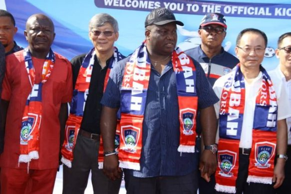"""Ifeanyi Ubah flags off """"1 Family, 1 Footballer"""" project in Nigeria"""
