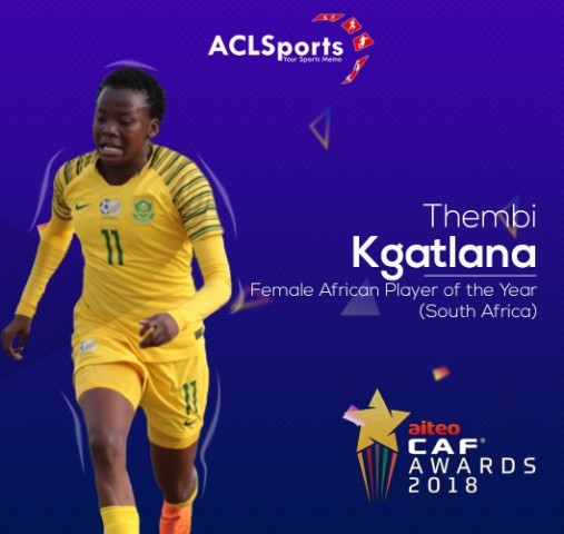 CAF Awards: Kgatlana dethrones Oshoala, Salah retains title