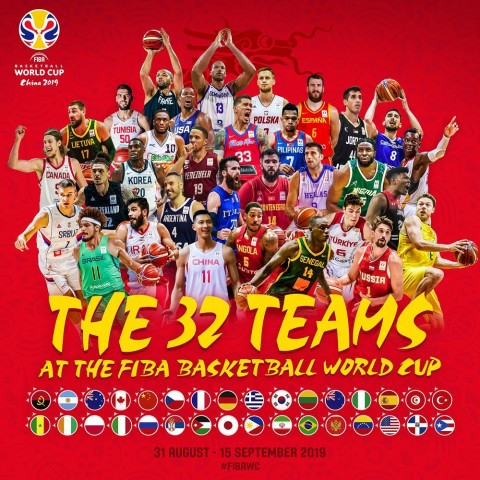 32 teams qualify for 2019 FIBA World Cup in China