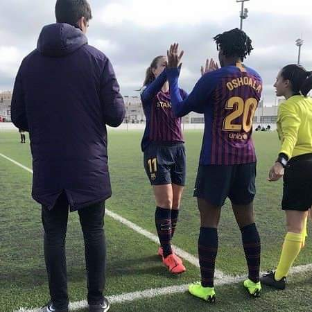Super Falcons: Oshoala on target in Barcelona debut