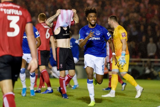 EFL Cup: Alex Iwobi scores first Everton goal