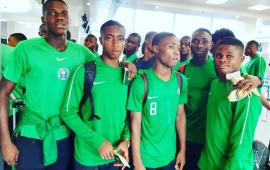 U17WC: Nigeria land in Brazil for global fiesta