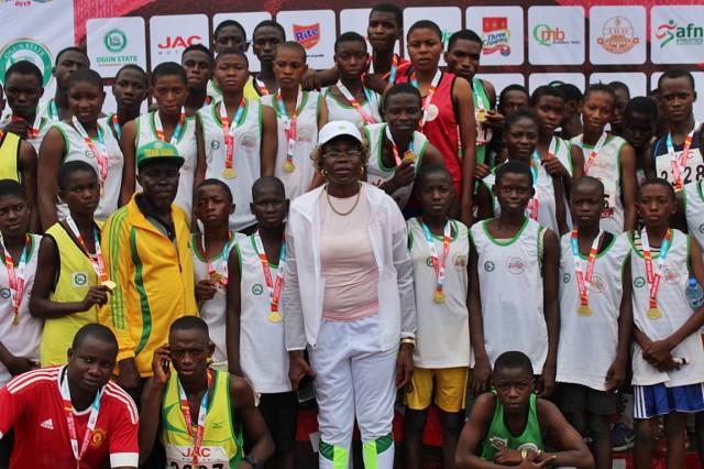 Falilat Ogunkoya mentors over 100 athletes in Ogun state