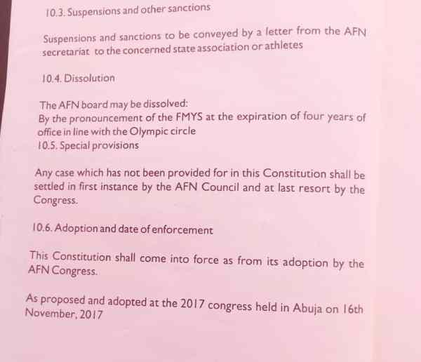 AFN constitution