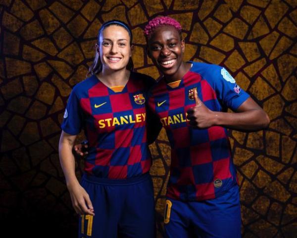 Oshoala and Barcelona Femeni Resume UWCL Quest