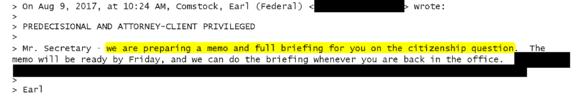 Citizenship Memo Email
