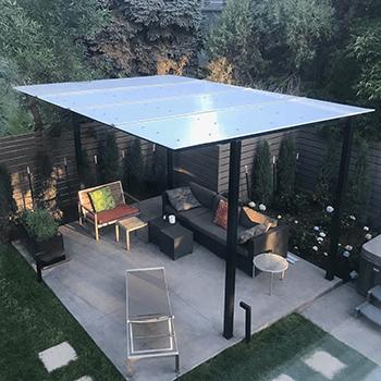 pergola roof panels acme plastics inc