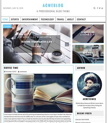 AcmeBlog : Professional Blog , News and Magazine WordPress Theme