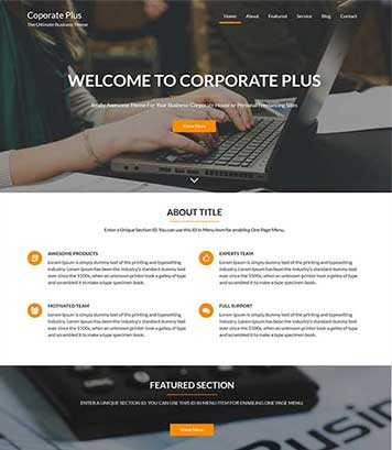 Corporate Plus - Awesome WordPress Theme for Business & Corporate