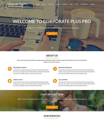 Corporate Plus Pro - Premium Business & Corporate WordPress Theme