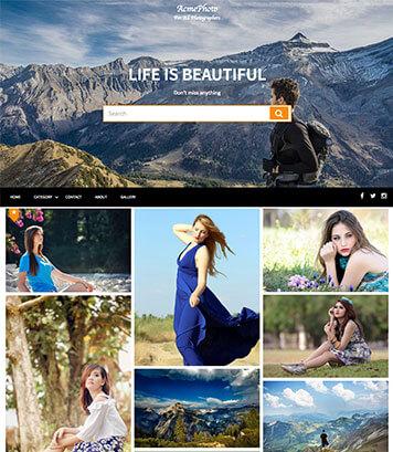 AcmePhoto- WordPress Photography Theme