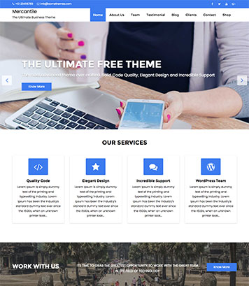 Mercantile Multipurpose WordPress Theme
