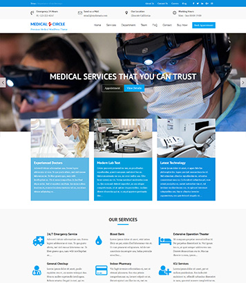 Medical Circle Pro - Medical Multipurpose Premium WordPress Theme