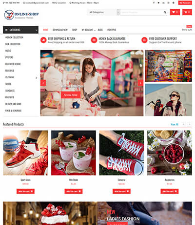 Online Shop - Highly Customized WordPress WooCommerce Theme
