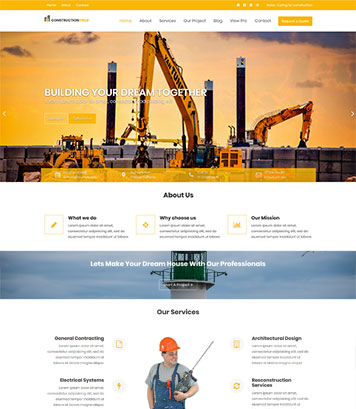 Construction Field : Impressive Construction & Real Estate Agencies WordPress Theme