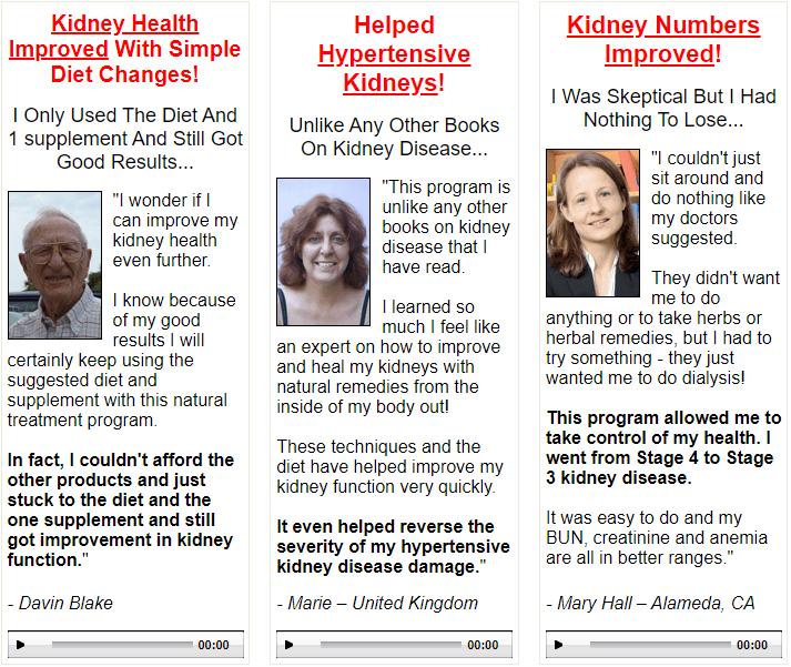 All Natural Kidney Health & Kidney Function Restoration Program results