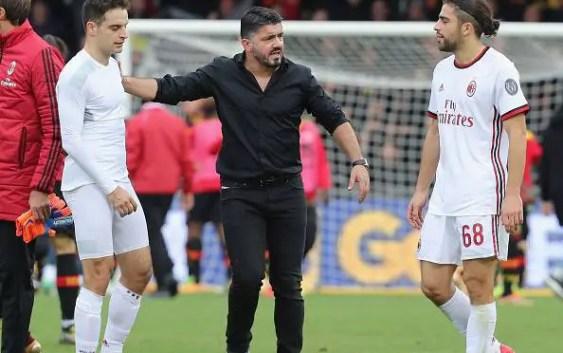 Gattuso, Rodriguez & Bonaventura dopo (Benevento vs AC Milan)