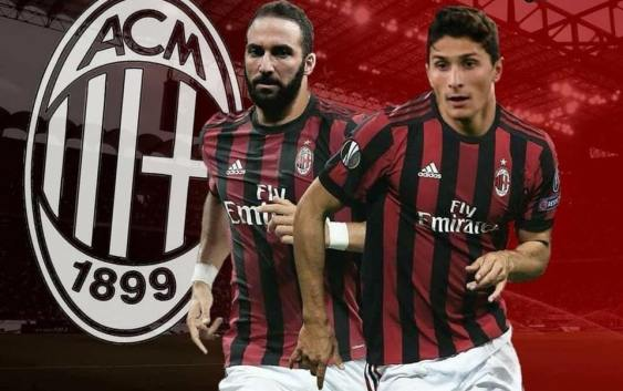 Image result for Mattia Caldara and Gonzalo Higuain