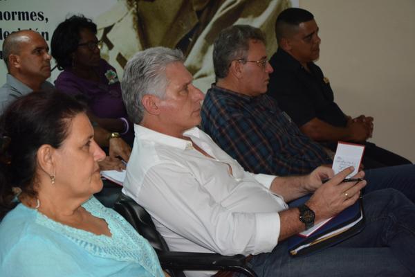 Miguel Díaz-Canel Bermúdez, Presidente de los Consejos de Estado y de Ministros, efectuó una visita de gobierno a la provincia Matanzas, Cuba, el 11 de julio de 2018. ACN FOTO/ Roberto JESÚS HERNÁNDEZ