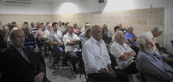Participantes en la sesión de clausura de la IV Conferencia de Estudios Estratégicos, del Centro de Investigaciones de Política Internacional (CIPI), realizada en la sede de la entidad, en La Habana, Cuba, el 26 de octubre de 2018.