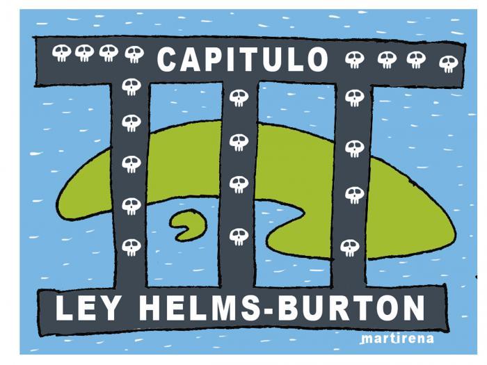Caricatura-Título III de la Ley Helms-Burton
