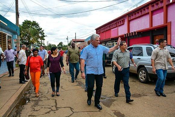 Visita gubernamental a Holguín. Foto Juan Pablo Carreras (ACN)