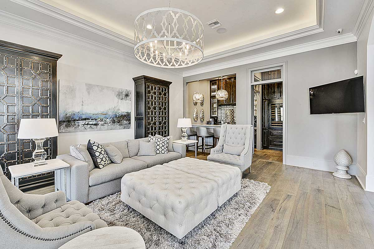 Light Grey Living Room Of With And White Tones By Troyer Builders Acnn Decor