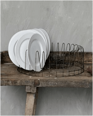 Where to Find Vintage Style Wire Plate Racks