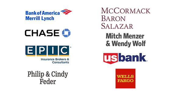 EPIC Insurance, McCormack Baron Salazar, Mitch Menzer and Wendy Wolf, Phil & Cindy Feder, U.S. Bank, Wells Fargo, Chase, Bank of America
