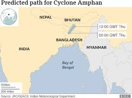 cyclone amphan predicted route
