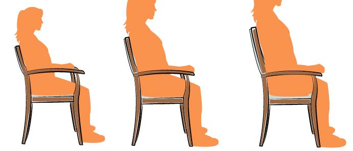 une chaise adaptee a sa morphologie