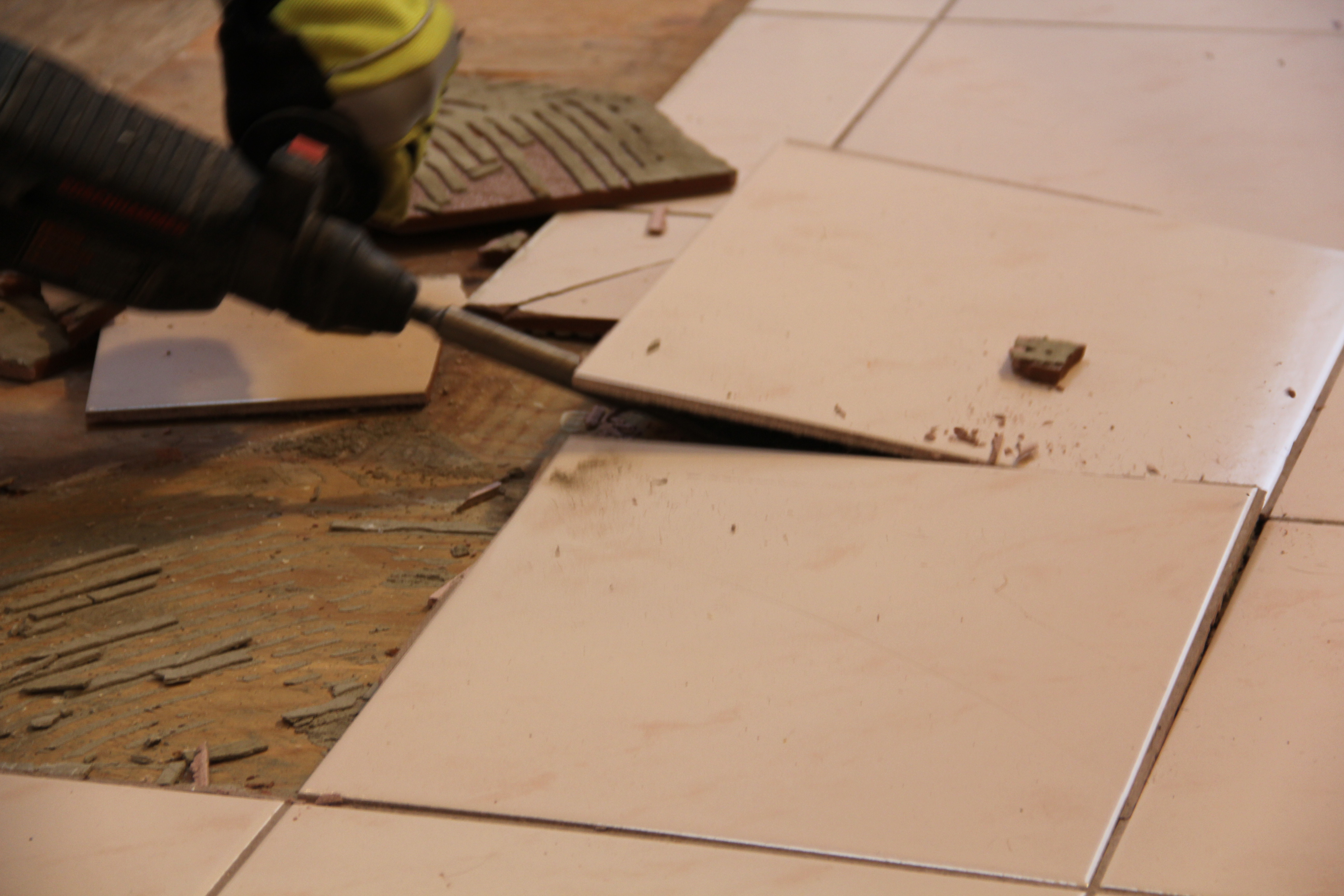 how to remove a tile floor and underlayment concord carpenter