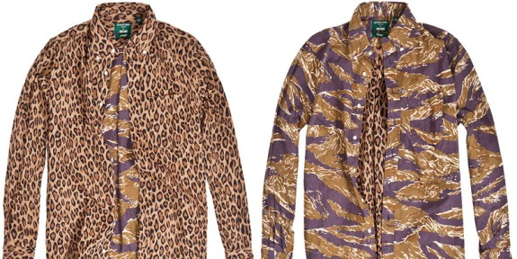 Along the way of the hunted, we had our share on takes on camo. Leopard/Camo reversible for Tres Bien Shop.